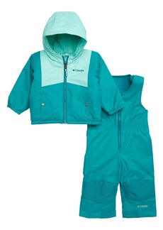 Columbia Double Flake Waterproof Insulated Jacket & Bib Snowsuit (Baby Girls)