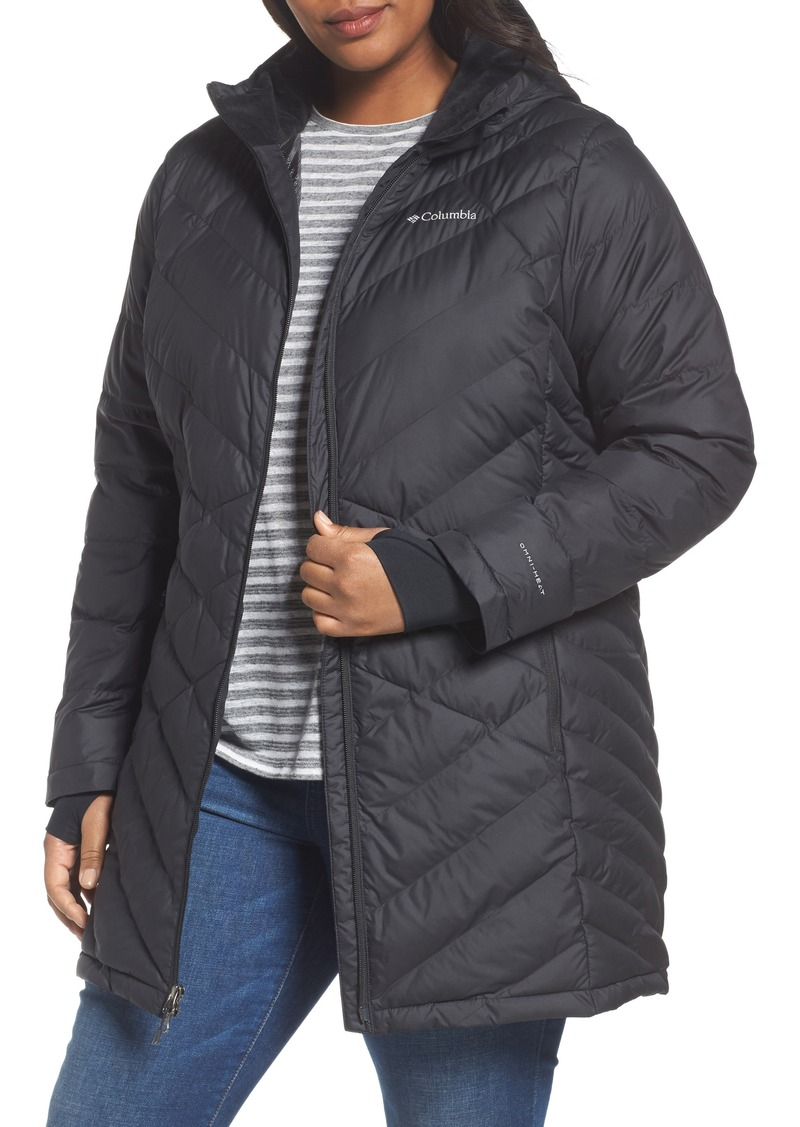 b9b7f62ae45 Columbia Heavenly Water Resistant Insulated Long Hooded Jacket (Plus Size)