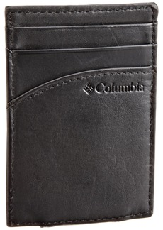 Columbia Leather Wallets for Men - Smart Slim Thin Minimalist Travel Front Pocket Card Money Holder for TravelOne sizee