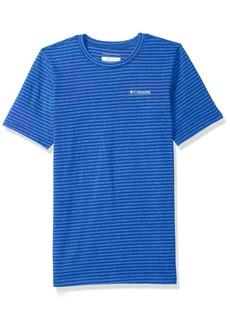 Columbia Boys' Little Cullman Crest Striped Tee Azul S