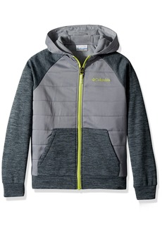 Columbia Boys' Little S'More Adventure Hybrid Hoodie Mystery Heather Grey ash XXS