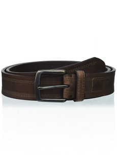 Columbia Men's 1.5 in. Wide Elevated Leather Belt dark brown Small