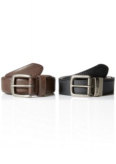 Columbia Men's 2 Belts in A Box Gift Set brown/black