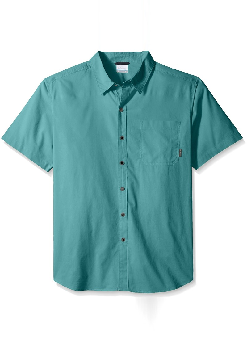 eae13908605 Columbia Men's Big and Tall Thompson Hill Solid Short Sleeve Shirt
