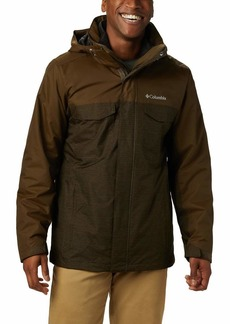 Columbia Men's Big and Tall Timberline Triple Interchange Jacket tech Lines Olive Green LT