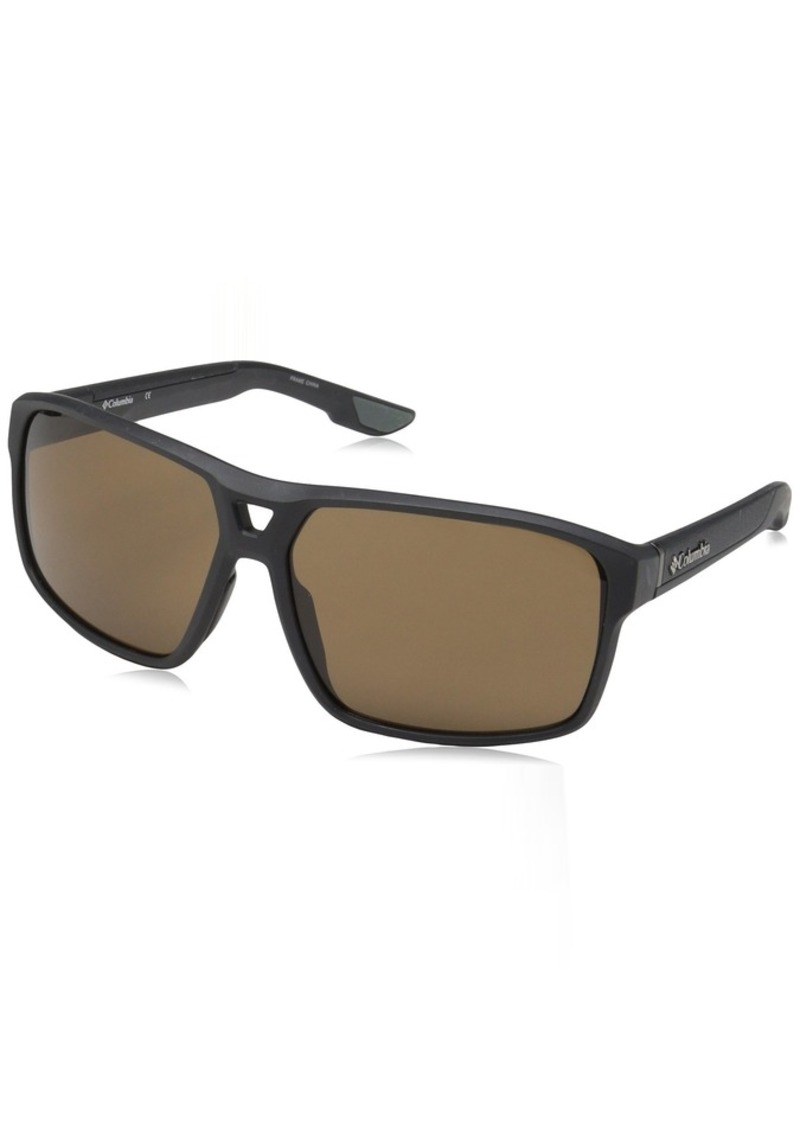 Columbia Men's Black Ridge Aviator Sunglasses  62 mm