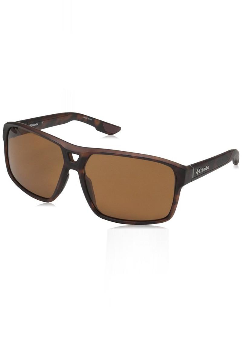 Columbia Men's Black Ridge P Polarized Aviator Sunglasses  62 mm