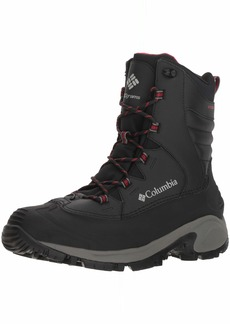 Columbia Men's Bugaboot III Mid Calf Boot Black Bright red  Regular US