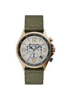 Columbia Men's Canyon Ridge Green Nylon Strap Chronograph Watch 42mm