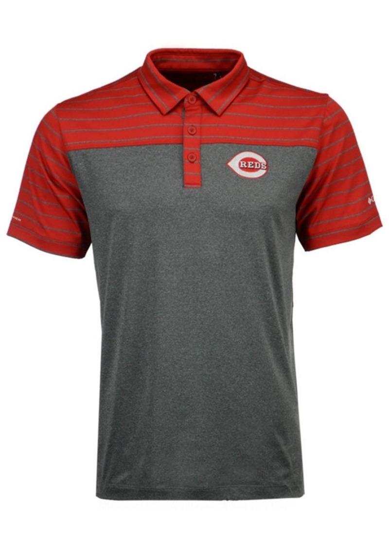 d5307aff959 Columbia Columbia Men's Cincinnati Reds Omni-Wick Groove Polo