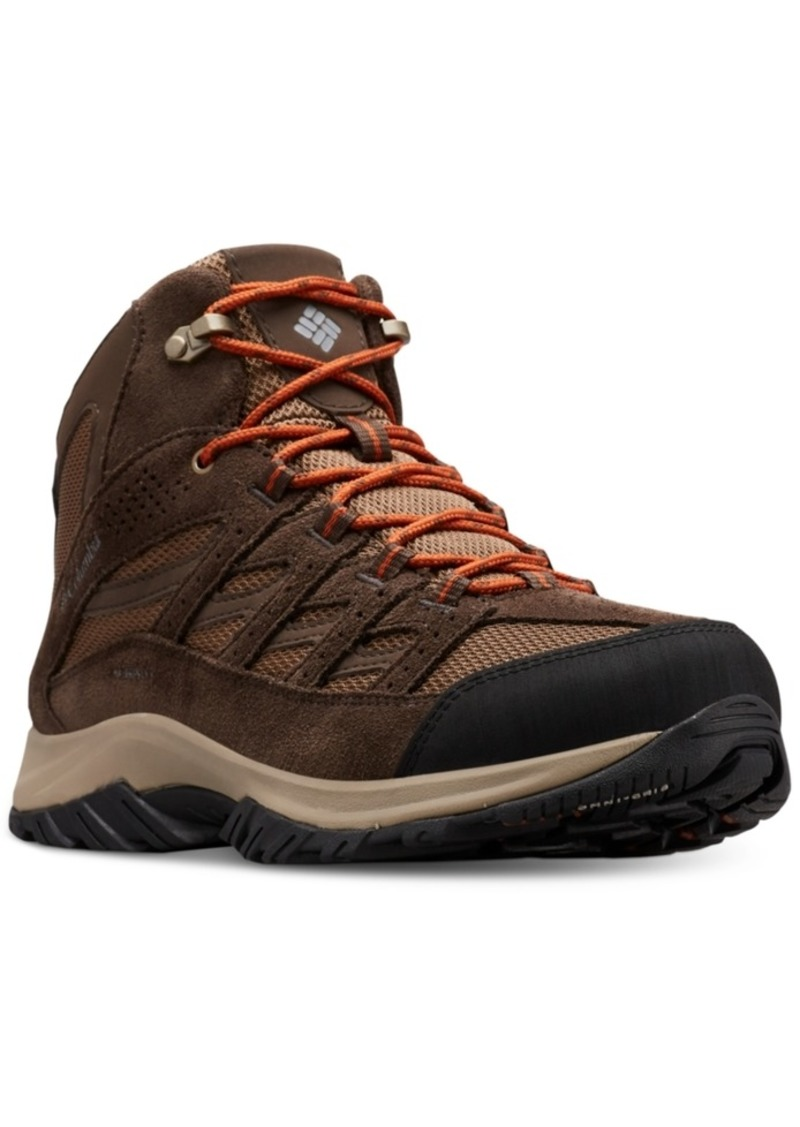 Columbia Men's Crestwood Waterproof Mid-Height Hiking Boots Men's Shoes