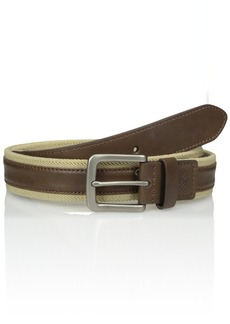 Columbia Men's Fabric with Leather Overlay Comfort Stretch Belt
