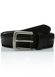 Columbia Men's Fabric with Leather Overlay Comfort Stretch Belt black