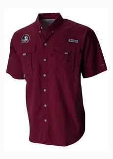 Columbia Men's Florida State Seminoles Bahama Short Sleeve Button Up Shirt