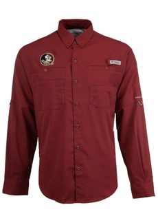 Columbia Men's Florida State Seminoles Tamiami Long Sleeve Button Down Shirt