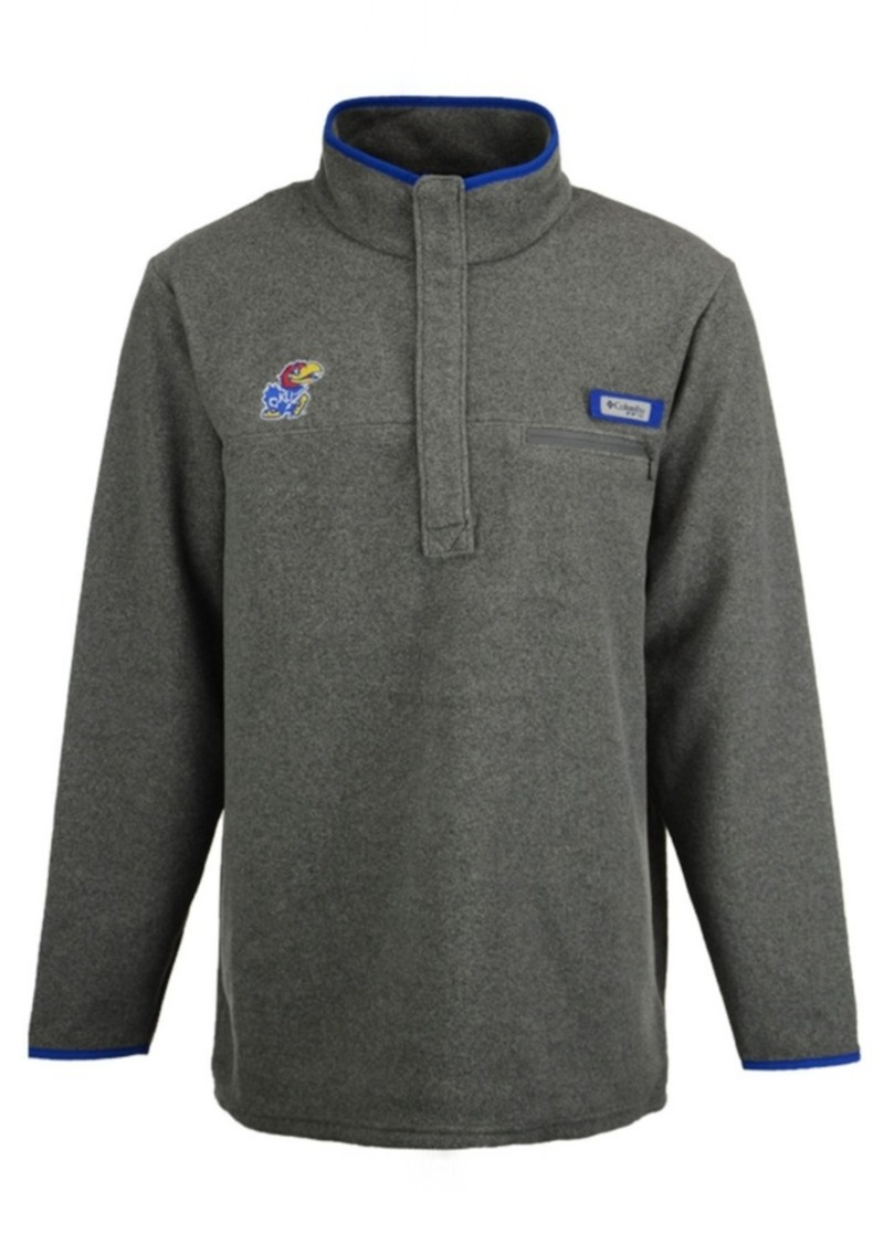 Columbia Columbia Men's Kansas Jayhawks Harborside Fleece Pullover ...