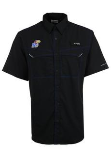 Columbia Men's Kansas Jayhawks Low Drag Off Shore Button Up Shirt