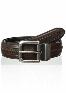 Columbia Men's Leather Reversible Casual Belt  -brown/black Xlarge