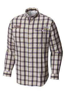 Columbia Men's Lsu Tigers Super Tamiami Long Sleeve Shirt