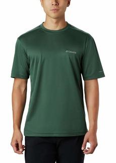 Columbia Men's Meeker Peak Short Sleeve Wicking UPF 15 Crew Shirt rain Forest