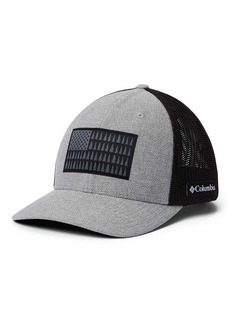 Columbia Men's Mesh Tree Flag Ball Cap Grey Heather