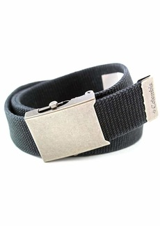 Columbia Men's Military Web Belt - Casual for Jeans Adjustable  Cotton Strap and Metal Plaque Buckle