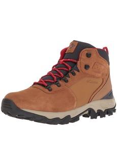 Columbia Men's Newton Ridge Plus II Suede Waterproof Wide Hiking Shoe elk Mountain red 14 US