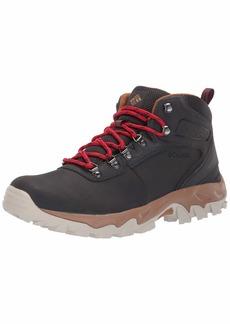 Columbia Men's Newton Ridge Plus II Waterproof Hiking Boot Shark Mountain red  Regular US