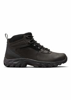Columbia Men's Newton Ridge Plus II Waterproof Hiking Boot-Wide Black 8.5 Regular US