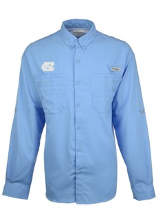 Columbia Men's North Carolina Tar Heels Tamiami Long Sleeve Button Down Shirt