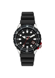Columbia Men's Pacific Outlander Black Silicone Strap Watch 42mm