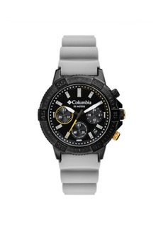 Columbia Men's Peak Patrol Gray Silicone Strap Chronograph Watch 42mm