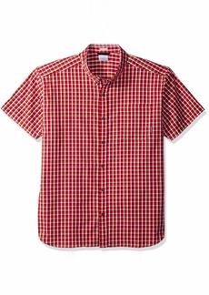 Columbia Men's Rapid Rivers II Short Sleeve Shirt red Spark Mini Plaid M