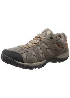 Columbia Men's Redmond Waterproof Hiking Shoe Pebble Dark Ginger  D US