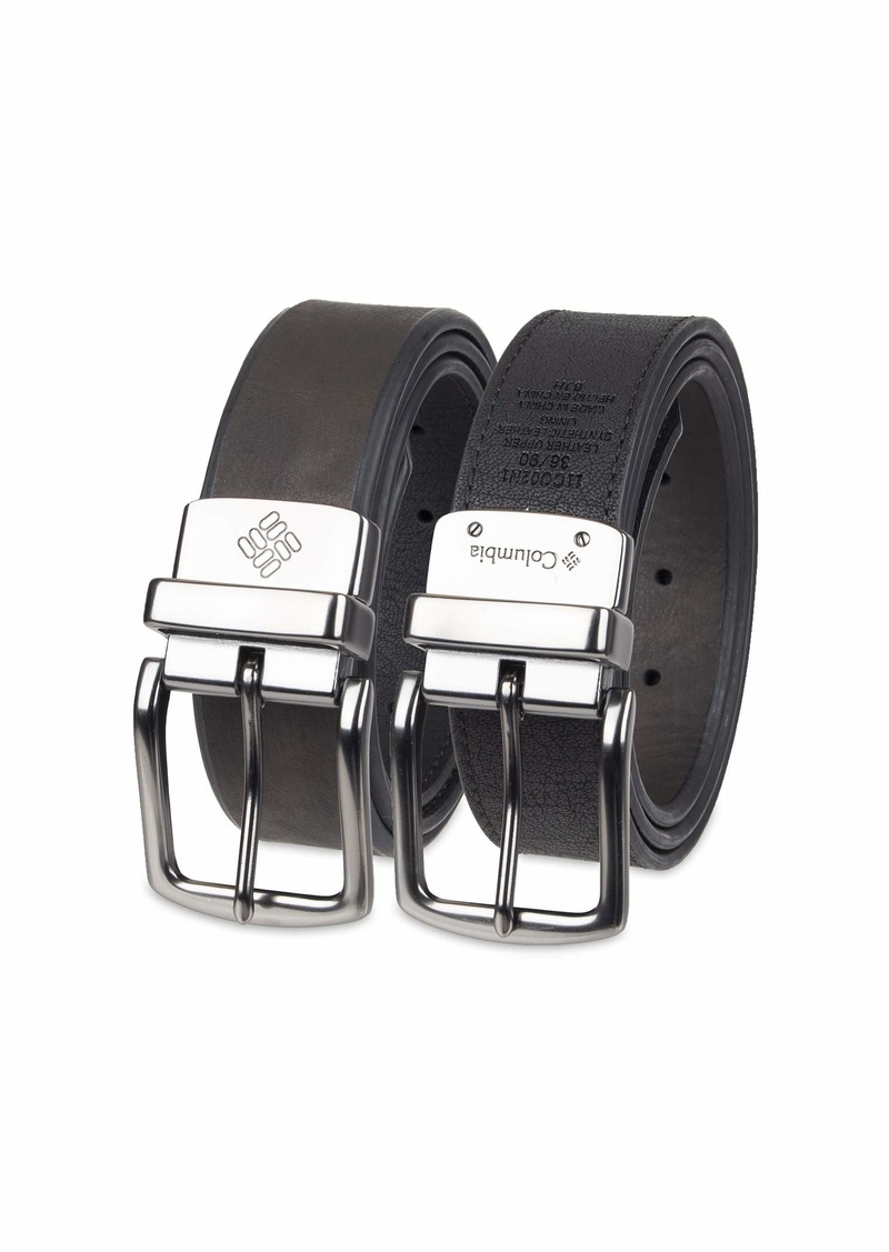 Columbia Reversible Leather Belt-Casual for Mens Jeans with Double Sided Strap