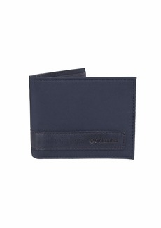 Columbia Men's RFID Blocking Nylon Slimfold Wallet navy
