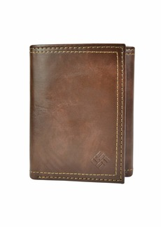 Columbia Men's RFID Leather Wallet Trifold Vertical Security Protection