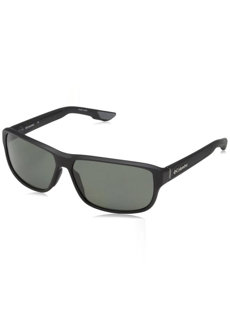 Columbia Men's Ridgestone P RIDGESTONE P-002 Polarized Rectangular Sunglasses  62 mm