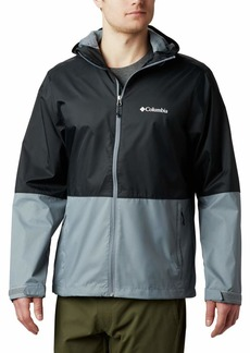 Columbia Men's Roan Mountain Rain Jacket black Grey Ash