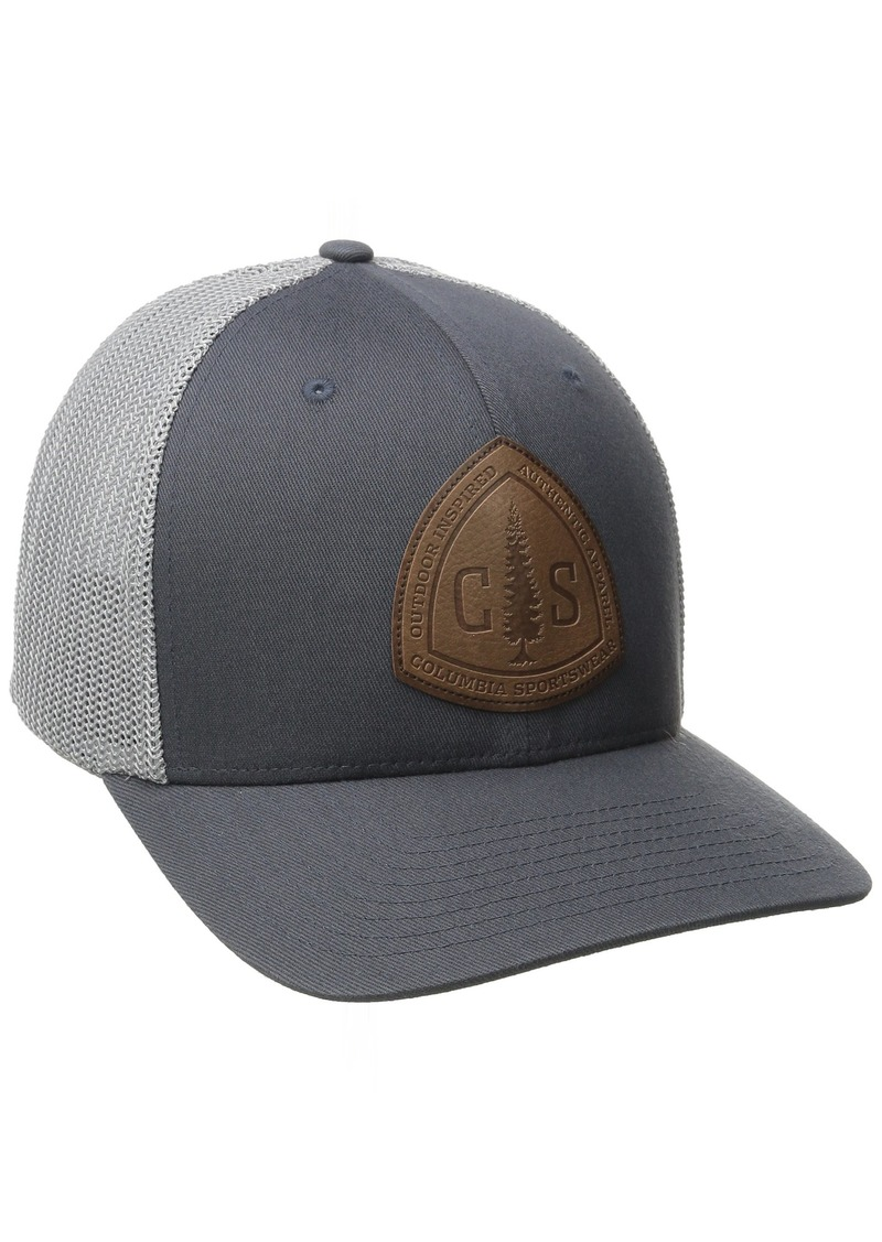 Columbia Men's Rugged Outdoor Mesh Hat Graphite/CS Patch Small/Medium