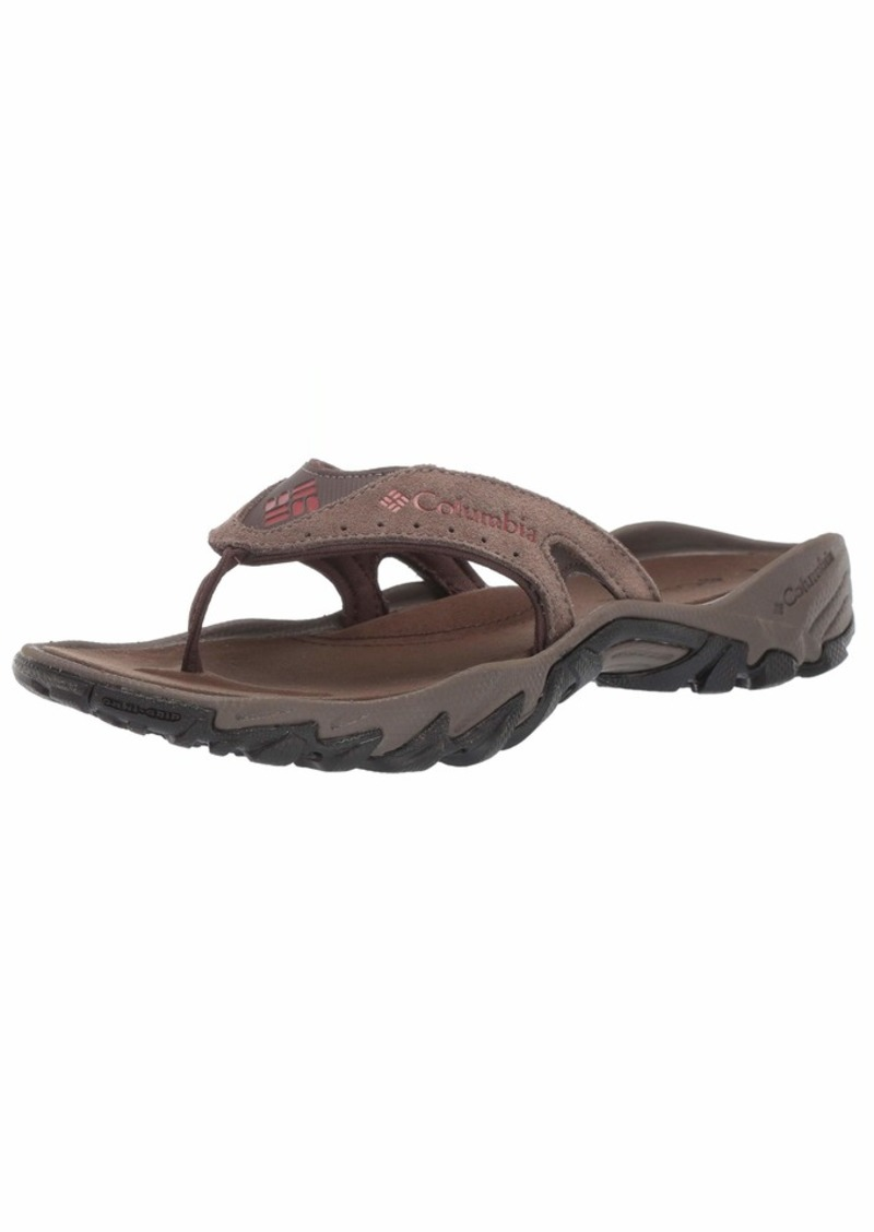 Columbia Men's SANTIAM FLIP Sport Sandal mud Rusty  Regular US