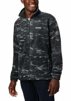 Columbia Men's Steens Mountain Printed Jacket Black Texture camo