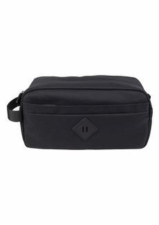 Columbia Men's Top Zip Fabric Travel Kit with Front Zipper Pocket black
