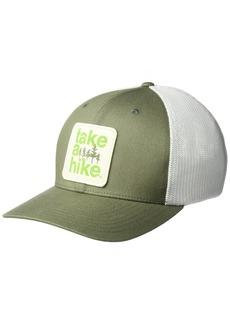 Columbia Men's Trail Ethos Mesh Hat Cypress Take A Hike L/XL