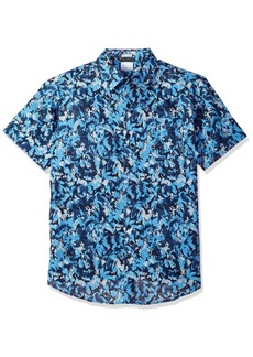 Columbia Men's Under Exposure Ii Short Sleeve Shirt Yacht Floral camo