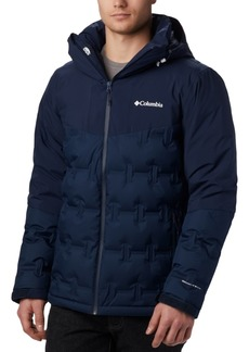 Columbia Men's Wild Card Stretch Waterproof Quilted Down Ski Jacket with Removable Hood