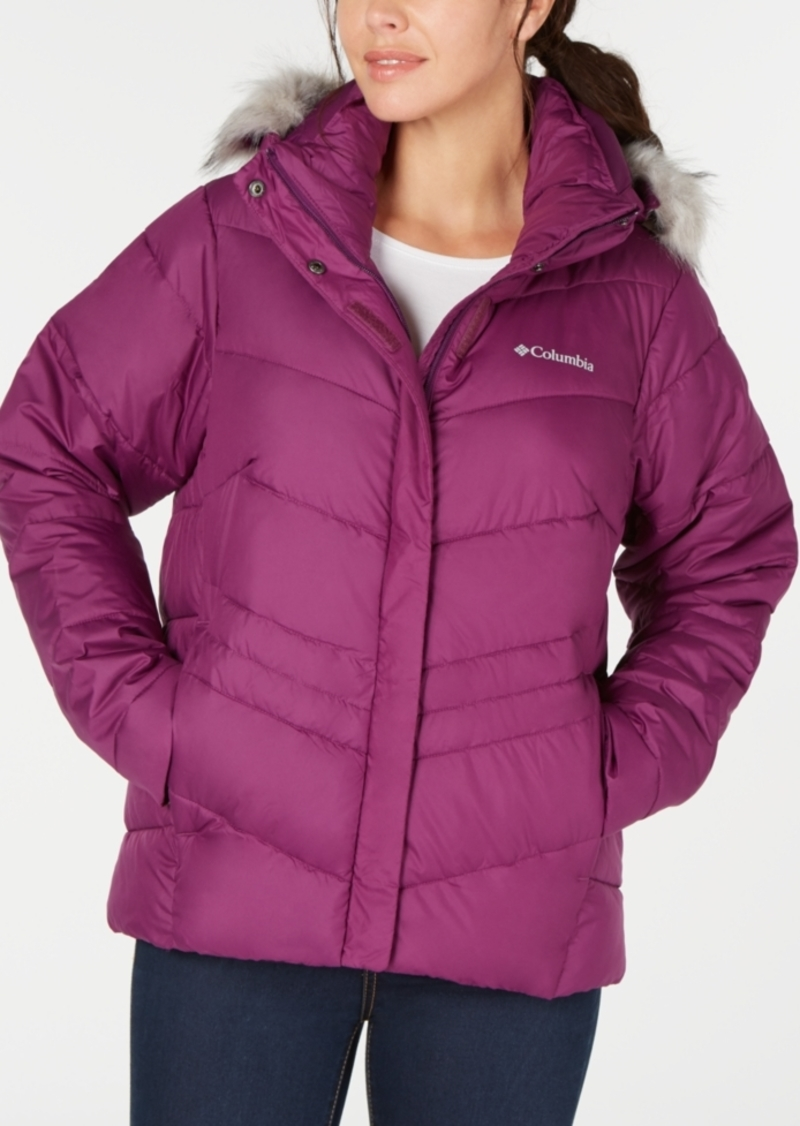 Columbia Women's Peak To Park Insulated Faux-Fur-Trim Jacket