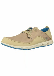 Columbia Men's Bahama Vent Relaxed Laced Boat Shoe Oxford tan/Modern Turquoise  Regular US