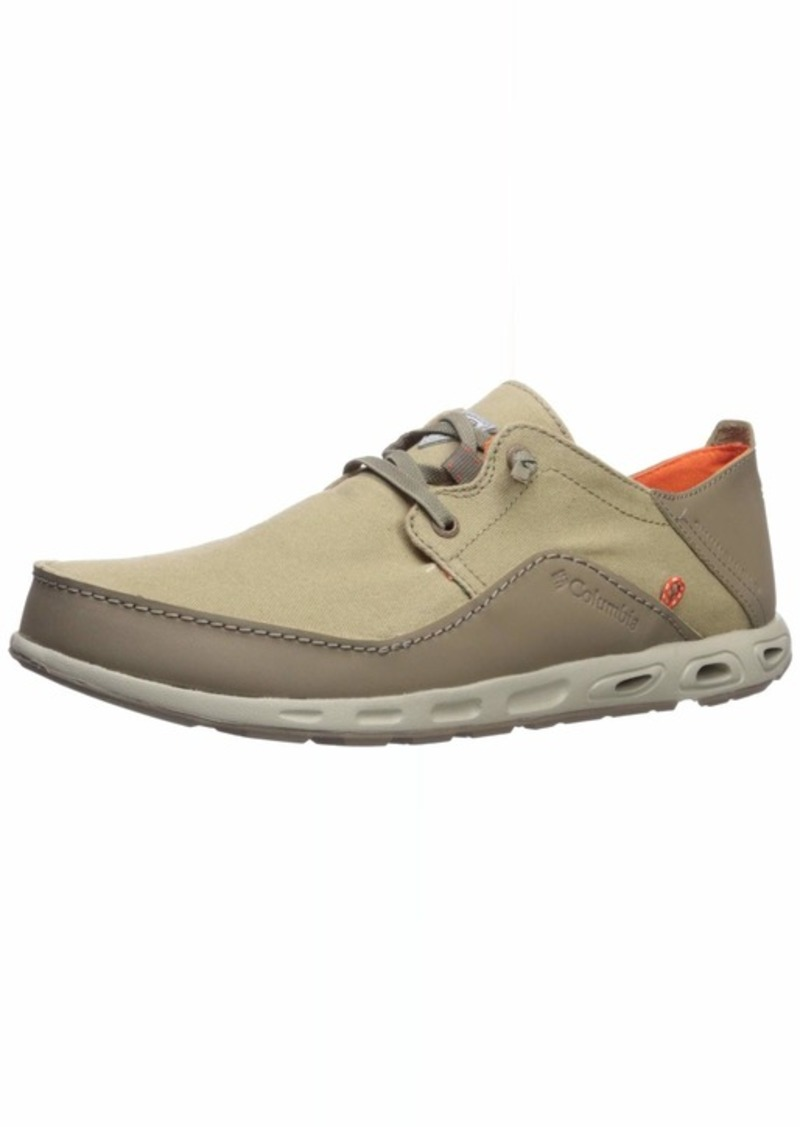 Columbia PFG Men's Bahama Vent PFG LACE Relaxed Boat Shoe British tan/Tangy Orange  US