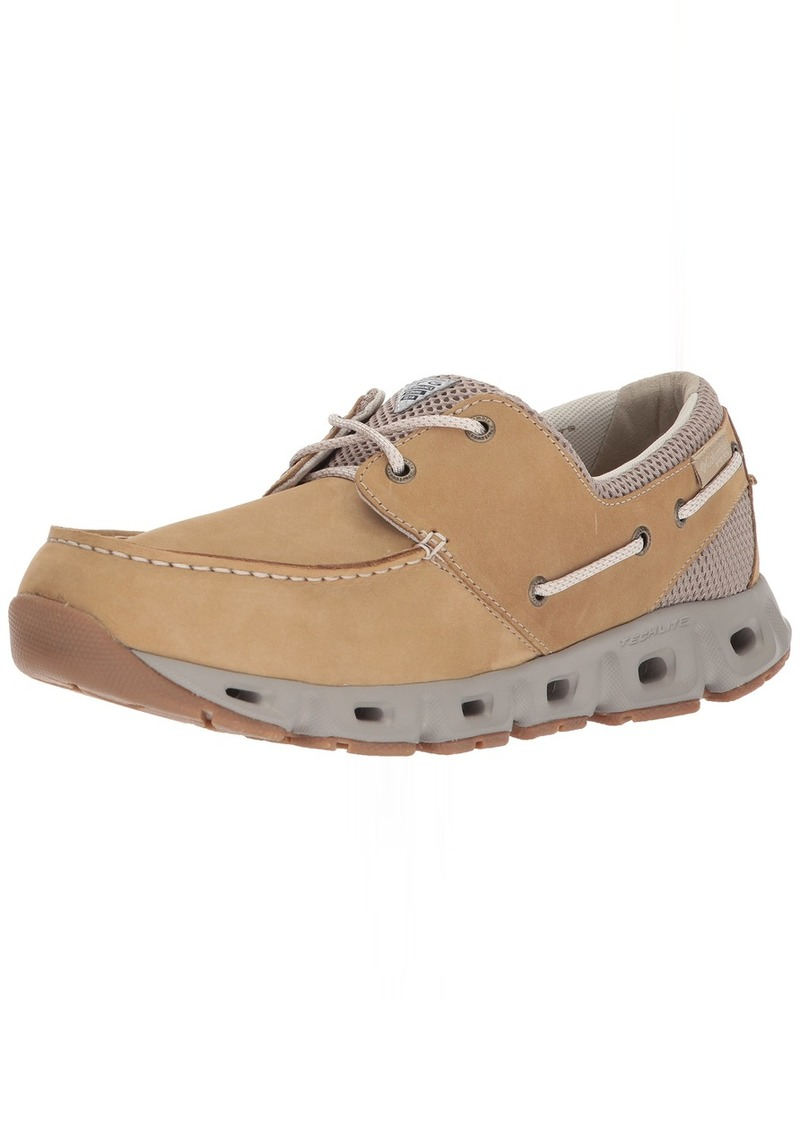 Columbia PFG Men's BOATDRAINER III PFG Boat Shoe British tan Fawn  Regular US
